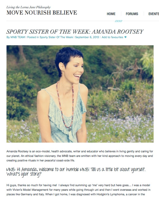 Lorna Jane Sporty Sister of the Week