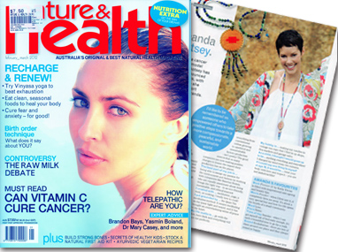 Nature & Health Magazine feature