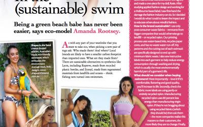 In the (sustainable) swim